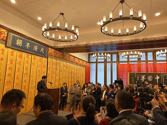 """红心伟业艺术研究院院长佛涛 """"和平世界""""国际书法巡展在纽约哈佛举行"""